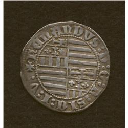 Ferdinand I, 1458-1494, gigliato, AR, king std./coat-of-arms