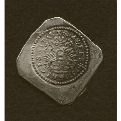 Gronigon, seige 1577, ½ daalder uniface, bi., double eagle