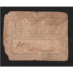 Maryland.  August 14, 1776.  Half Dollar.