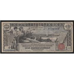 $1.00  1896  FR-225  Bruce-Roberts