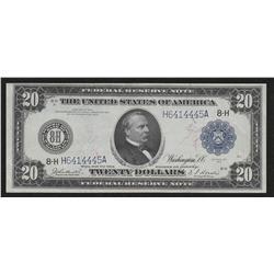 $20.00  1914  FR-994  Burke-Houston