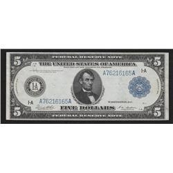 $5.00 1914   FR-832B      White-Mellon