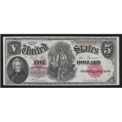 $5.00  1907  FR-84, United States Note