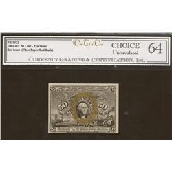 Fr-1322  50 cents 1863-67