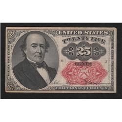 Group of 10 cent and 25 cent fractional, ten different notes