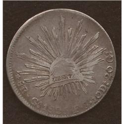 1825-Ga-F.S., KM#377.6, F-VF, Very Scarce