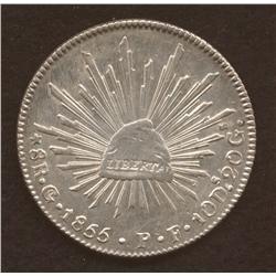 1855-Go-P.P., KM#377.8, Choice AU.