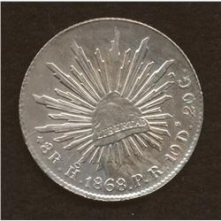 1868-Ho-P.R., KM#377.9, Nice AU.