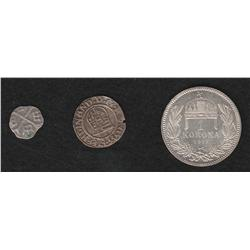 Lot of Three Coins from Hungary