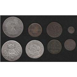 Lot of Seven German States pieces