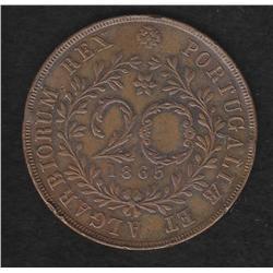 Azores , 20 reis , 1865