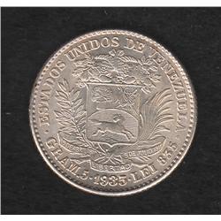 Venezuela , 1 bolivar , 1935