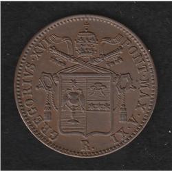 Papal States , baiocco , 1841R