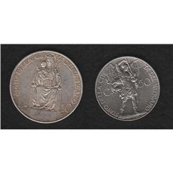 Lot of two Vatican City pieces