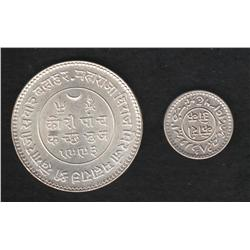 Lot of two India pieces , Kutch , 1 kori , (1936)