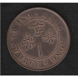Hong Kong , 1c , 1866