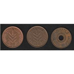 Lot of three Palestine pieces