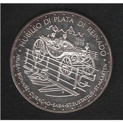 Netherlands Antilles , 25 G , 1973