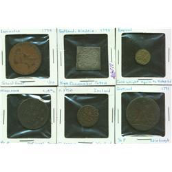 Lot of Nine British, Irish Coins & Tokens