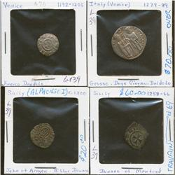 Lot of Four Italian States Coins
