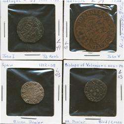 Lot of Four Spain & Portugal Coins