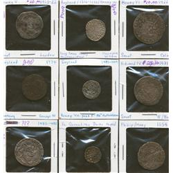 Lot of Nine Assorted Great Britain Coins
