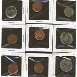 Canadian coin error lot of 9 coins
