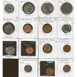 Lot of Fifteen United States of America Error Coins