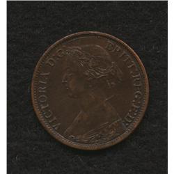 1861 New Brunswick Half Cent