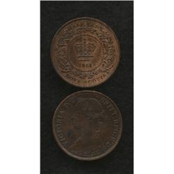 Nova Scotia Half Cent 1861 & 1864