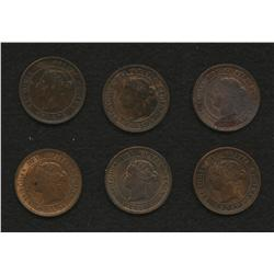 Lot of 5 One Cents