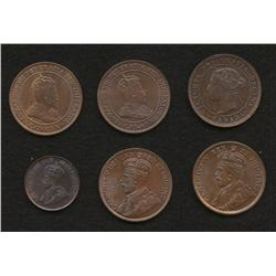 Lot of 6 One Cents