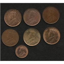 Lot of 7 One Cents