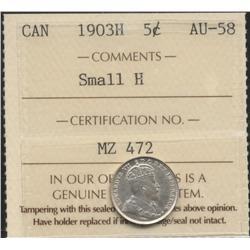1903 H Five Cent