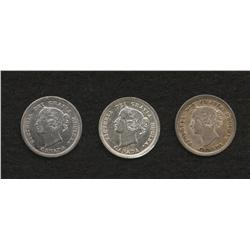 Lot of 3 Five Cents