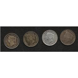 Lot of 4 Five Cents