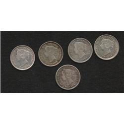Lot of 5 Five Cents