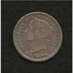 1872 H Ten Cent