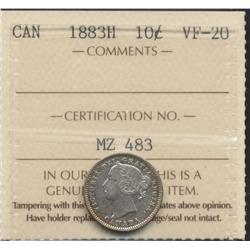 1883 H Ten Cent