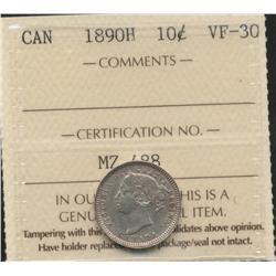 1890 H Ten Cent
