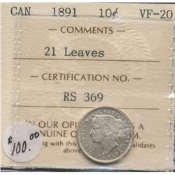 1891 Ten Cent