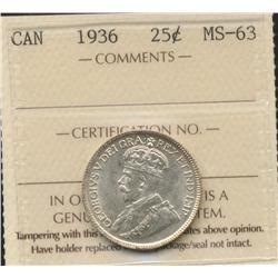 1936 Twenty Five Cent