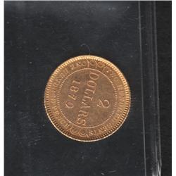 1870 Newfoundland $2 Dollars