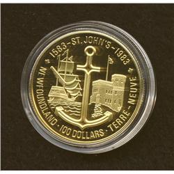 1983 $100 Gold Coin