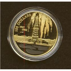 2002 $100 Gold Coin
