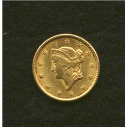 1851 $1 Gold Coin