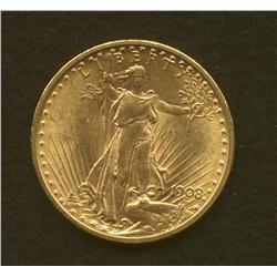 1908 $20 Gold Coin