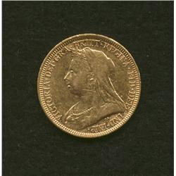 1893 Australia Gold Sovereign