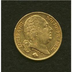 1818 A France 20 Francs
