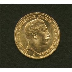 1906 Germany Prussia 20 Mark Gold